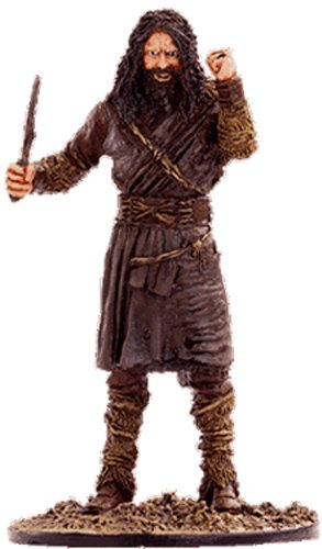 Figura di piombo Il Signore degli Anelli. Lord of the Rings Collection Nº 53 Wild Men On The Plains Of Rohan