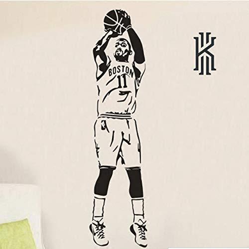 andaufkleber Poster Basketball Star Poster Papier Schlafsaal Dekoration Tapete Schwarz 100x25 cm ()