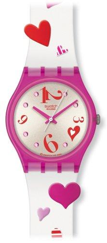 Swatch GV120 - Orologio da polso da donna, cinturino in plastica multicolore
