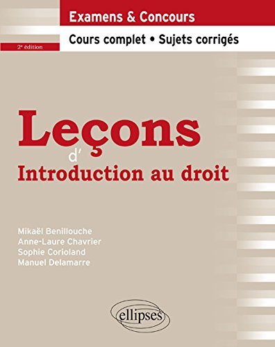 Leçons d'Introduction au Droit