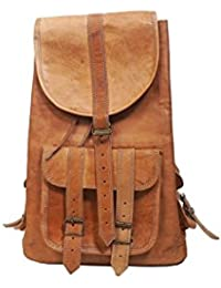 Original Leather Backpack Bag For Boys, Girls, Men, Women,College,Office With Front Pocket Stylish Strap Cover...