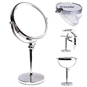 Himry miroir maquillage hauteur r glable 10x for Miroir tournant