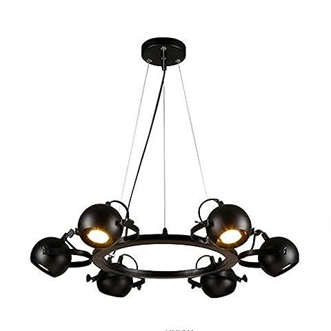 Retro Iron Chandelier Industrial Pendant Light Flush Mount Ceiling Lamp