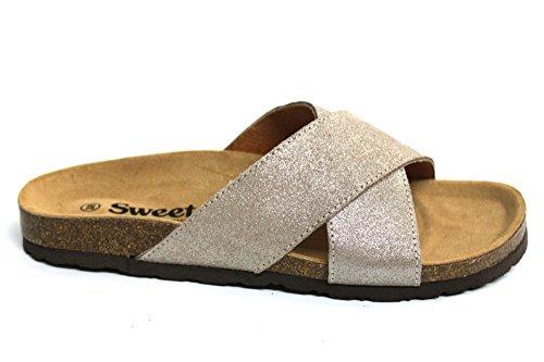 Sweet Zoey Femme croix de vacances Summer Beach Sandales Taille 3–8 Beige - Taupe