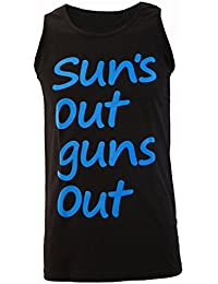 Suns Out Guns Out 22 Jump Street Inspired Mens Black Vest