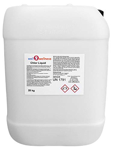 well2wellness Chlor Liquid/stabilisierte Chlorbleichlauge 28 kg - Sonderabfüllung -