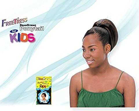 YAKY WRAP 9'' - Shake N Go FreeTress Drawstring Ponytail for KIDS #1B Off Black by Freetress