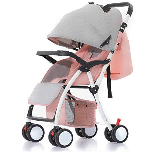 Kinderwagen Kann Sitzen Und Legen Leichte Tragbare Hohe Landschaft Vier Jahreszeiten Falten Volle Baldachin Vier Rad Trolley Baby Auto Baby Auto Rosa