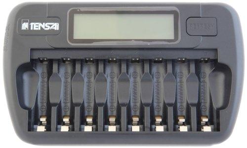Tensai TI-800L - Caricabatterie con microprocessore intelligente e display LCD
