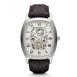 Fossil Herren-Armbanduhr Analog Automatik Leder ME3023