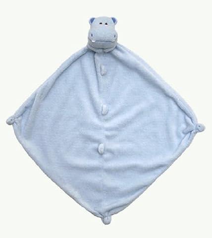 Angel Dear Mini Baby Blanket Blue Hippo