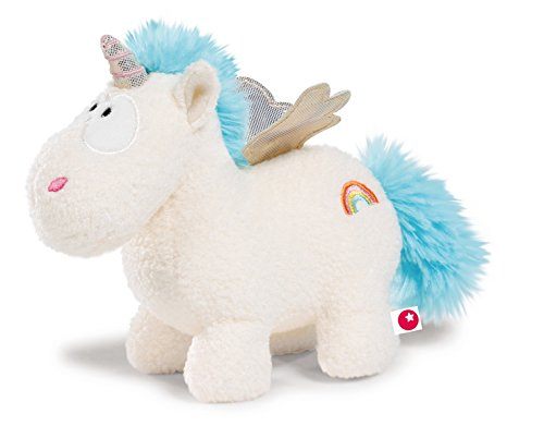 NICI - Theodor & Friends, unicornio Rainbow Flair, peluche, 13 cm (40099.0)