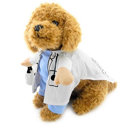 zunea Doctor Suit Kostüm für kleine Hunde Halloween -