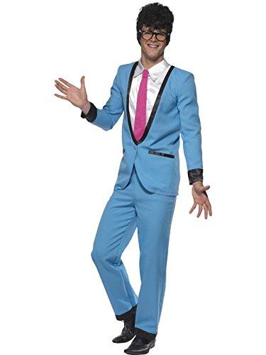 50er Jahre Teddy Boy Kostüm für Herren blau Cosh Gr. M-XL, (Teddy Kostüm Boy Child's)
