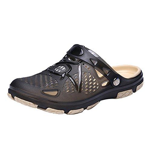 KonJin Unisex Adults' Classic Clogs Outdoor Casual Walking Beach Flip Flops Shoes Summer Beach Slippers