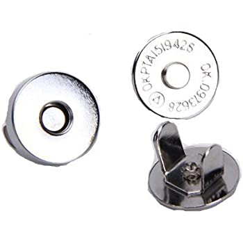 Wadoy  20 Sets Magnetic Bag Clasps 14mm--Great for Sewing, Craft, Clothing, Bag, Scrapbooking, and More