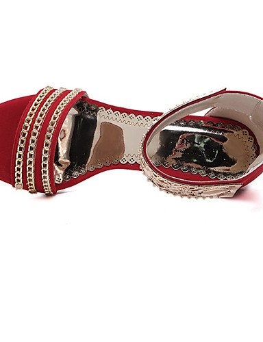 LFNLYX Chaussures Femme-Mariage / Habillé / Décontracté / Soirée & Evénement-Noir / Vert / Rouge-Talon Aiguille-Talons / Bout Ouvert / Confort / Black