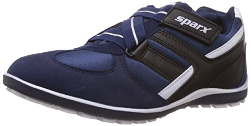 Sparx Men's Navy Blue and White Mesh Running Shoes - 8 UK (SX0202G)