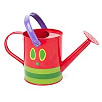 Legler Small Foot 11173Child-Friendly Size Very Hungry Caterpillar Watering Can Made Of Metal, with Moving Handle for Small Garden Fans 3Years and Up Toy, Assorted Colors