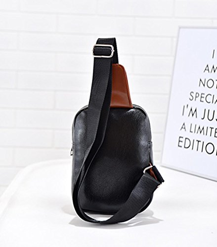 Neue koreanische Mode Herren Brust Tasche outdoor-Reisen einzigen Diagonalen kleine Umh?ngetasche Black