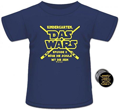 """T-Shirt Spruch Kindergarten """"Das Wars"""" Geschenk Schulanfang (134/140, Navy)"""