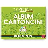 Pigna 0047477AS Album Cartoncini Colorati, 10 Pezzi
