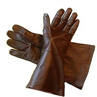Leather Mystics Guantes de Piel Color marrón Oscuro 2 x -Large (XX Grande)
