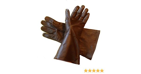 Lederhandschuh Handschuhe Lang Dunkelbraun Größe Xs Sport Freizeit
