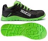 Sparco S0751743NRVF Practice - Scarpe antinfortunistiche, misura 43, colore nero/verde