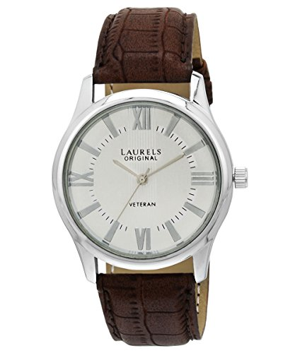 Laurels Veteran Analog Silver Dial Men's Watch - Lo-Vet-201