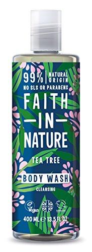 Faith Nature Gel Doccia 100% Naturale con Estratto della Pianta del Te Per tutti I Tipi di Pelle Senza Parabeni Vegano