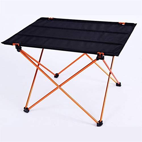 RLY Tabelle im Freien, helles rutschfestes faltendes Schreibtisch-bewegliches faltbares kampierendes Möbel-Computer-Tabellen-Picknick (Color : Gold, Size : L) -