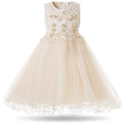 e749218bd0ec CIELARKO Vestito Floreale Bambina Matrimonio Principessa Vestito Ragazza  Elegante Estivo Abiti Bambina da Cerimonia 2-