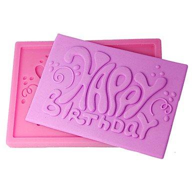 lllzz four-c Kuchen Form Happy Birthday Decor Silikonform Kuchen, Dekoration, Fondant Dekorieren Tools Supplies Farbe Pink