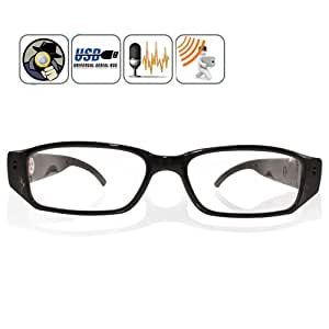 MatLogix Technologies Pvt. Ltd. LYSB00WP85R1C-ELECTRNCS Rectangular Unisex Sunglasses Spy Camera (Black)