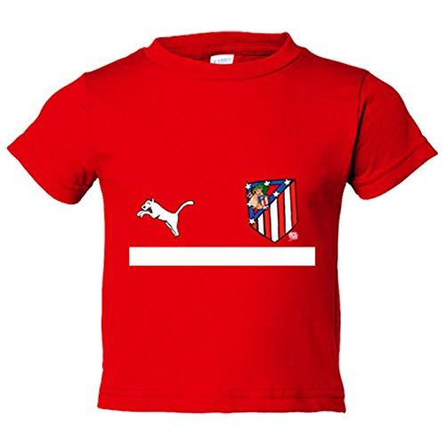 Camiseta niño segunda equipación Atleti de los 80 Atlético de Madrid -  Rojo c3446e1545a06