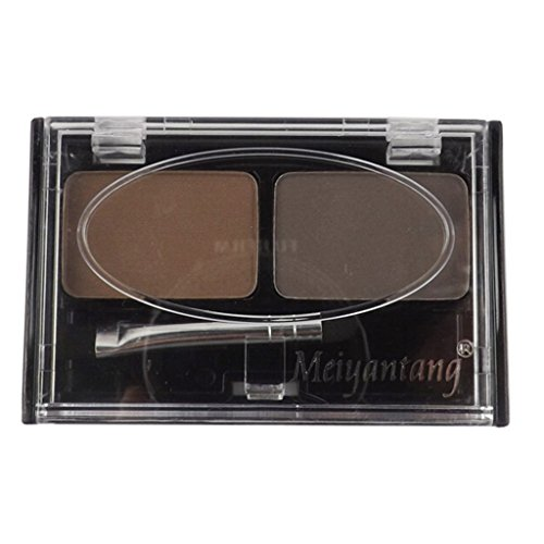 Magideal Fashion Makeup Eyebrow Shading Powder Palette with 2 Colour Cosmetic Kit (Brown)