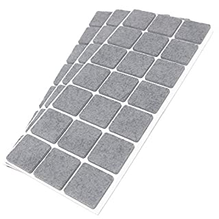Adsamm®   63 x self-Stick Felt Pads   1.18'' x 1.18'' (30x30 mm)   Grey   Square   self-Adhesive Furniture Glides with Felt Thickness of 0.138''/3.5 mm in top-Quality