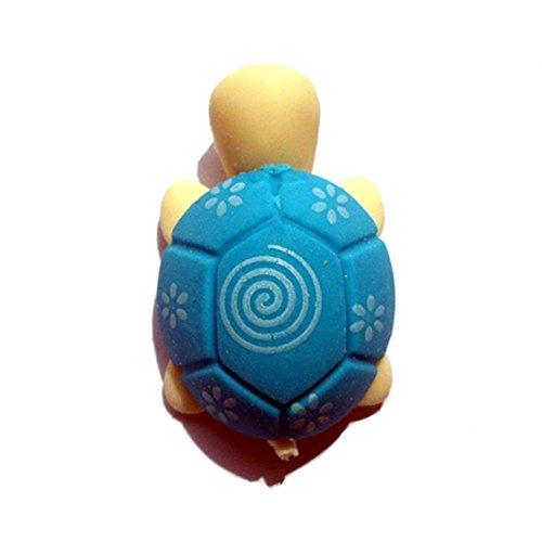 Blue Vessel 10pcs Cartoon kleine Schildkröte Modellierung Radiergummi Farbe Random