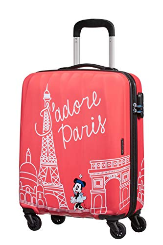 American tourister disney legends spinner s bagaglio a mano per bambini, 55 cm, 36 l, rosa (take me away minnie paris)