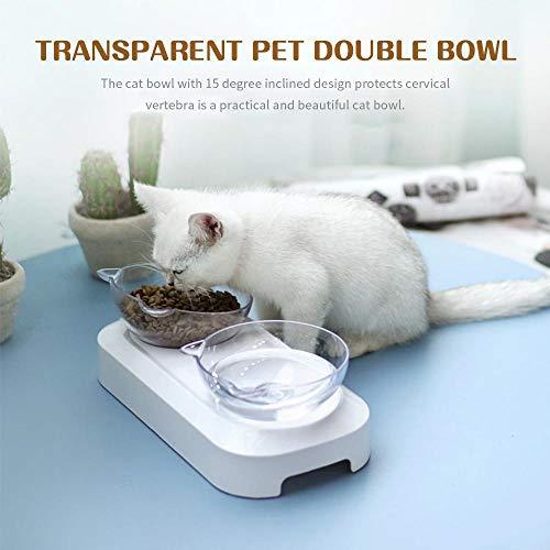Zoom IMG-3 hamkaw doppio gatto ciotola per