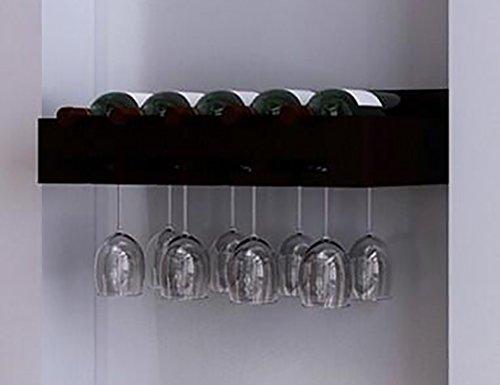 - Wand Montiert Holz Regal (Weinregal ZCJB Holz, Holz Wand-montiert Weinglas Rack Goblet Halter Hängende Becherhalter Regal (Farbe : Schwarz, größe : 50 cm))