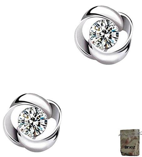 Preisvergleich Produktbild Original Enez Ohrringe Ohrstecker echt 925 Sterling Silber Ø 0,9 cm R2203 + Geschenkbeutel
