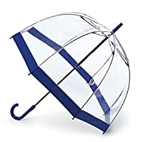 Fulton Birdcage 1 Clear Dome Umbrella Navy
