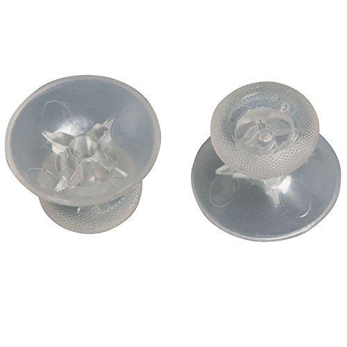 eJiasu 3D Mushroom Head Plastic Thumbstick Analog Stick Joystick Cap/Handle Rocker Cap Cover Repair Replacement Parts for Microsoft XBOX ONE 1 Controller (transparent 4pcs)