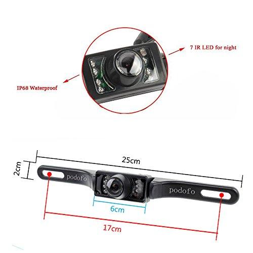 Rückfahrkamera Podofo® 4.3″ Faltbarer Drahtloser Auto Rückansicht TFT LCD Monitor mit wasserdichter Nachtsicht Parken Rückfahrkamera Installationssatz - 5