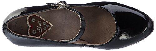 s.Oliver 24401, Scarpe con Tacco Donna Nero (Black Patent)