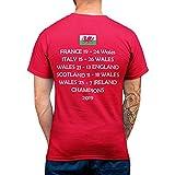 Cymru T-Shirt Rouge Pays de Galles Rugby Results Champions 2019 T-Shirt pour Homme, Femme, Enfant - Rouge - X-Large
