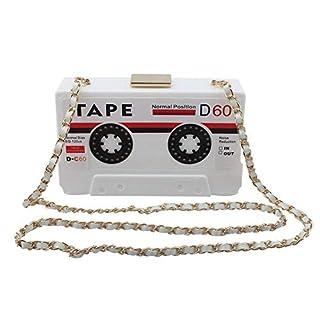 Women's Elegant Tape Shaped Shoulder Bag Vintage Style Acrylic Bag Clutch Handbag Party Purse Evening Bag
