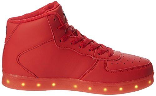 LED-Hi, Unisex-Erwachsene Niedrige Sneaker, Rot - Rot - Größe: 41 EU Wize & Ope